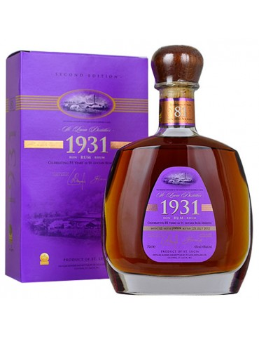ST LUCIA 1931, St. Lucia, 0.7L, 43% ABV