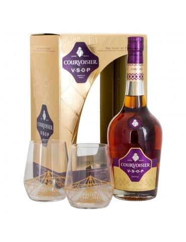 COURVOISIER Cognac, Pahare, VSOP, Blended, 0.7L, 40% ABV