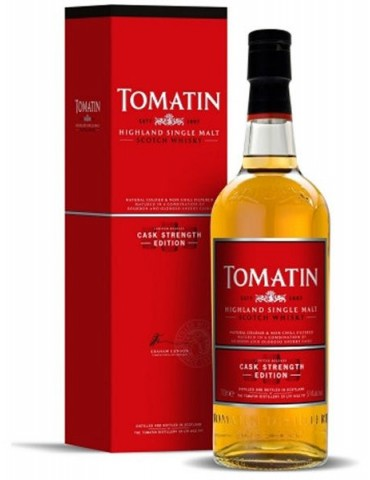TOMATIN Cask Strenght, Single Malt, Scotia, 0.7L, 57.5% ABV