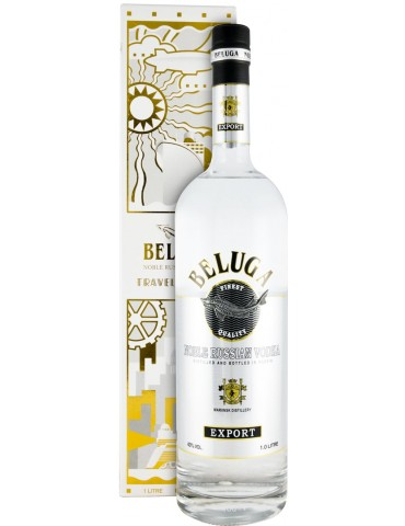 BELUGA Export Travel Edition, Rusia, 1L, 40% ABV, Cutie