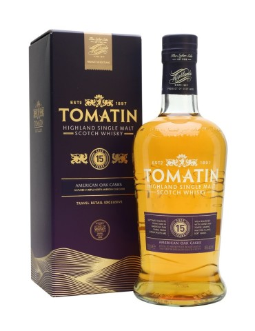 TOMATIN 15YO, Single Malt, Scotia, 0.7L, 46% ABV