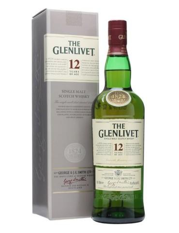 GLENLIVET 12YO Gift Box, Single Malt, Scotia, 0.7L, 40% ABV