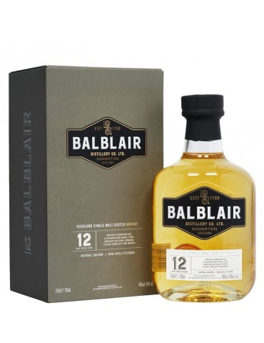 BALBLAIR 12YO, Single Malt, Scotia, 0.7L, 46% ABV