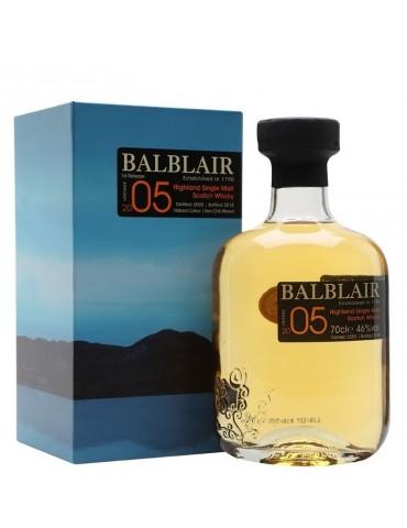BALBLAIR Vintage 2005, Single Malt, Scotia, 0.7L, 46% ABV