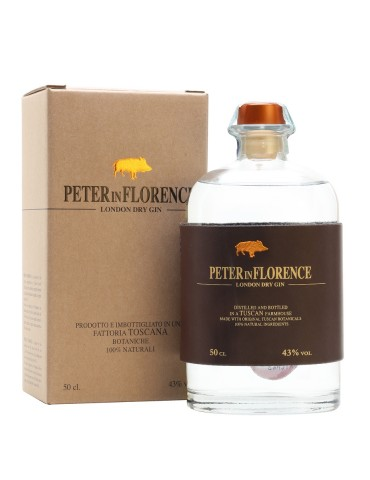 Peter In Florence London Dry Gin, Italia, 0.5L, 43% ABV