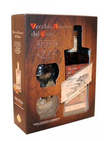 CAFFO Vecchio Amaro del Capo Riserva Gift Pack, Italia, 0.7L, 37.5% ABV, 2 Pahare