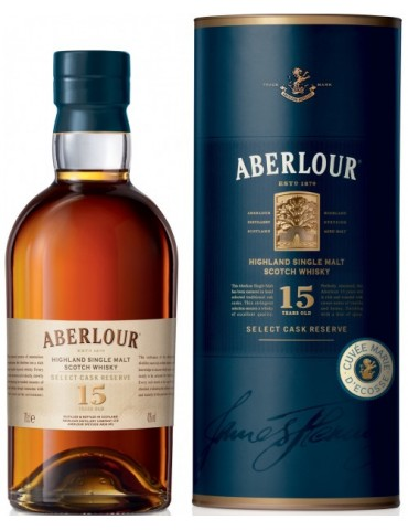 ABERLOUR 15YO Double Cask, Single Malt, Scotia, 0.7L, 40% ABV