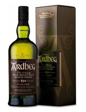 ARDBEG 10YO Gift Box, Single Malt, Scotia, 0.7L, 46% ABV
