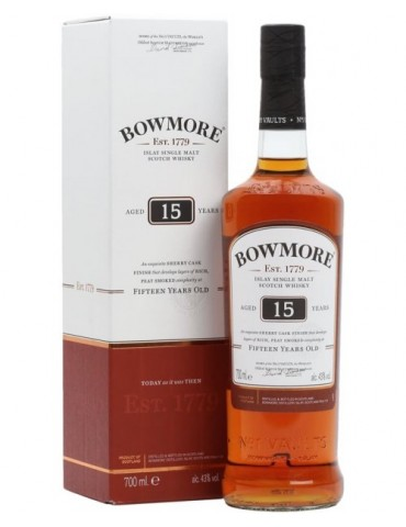 BOWMORE 15YO Sherry Cask, Single Malt, Scotia, 0.7L, 43% ABV