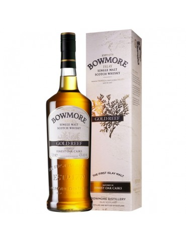 BOWMORE Gold Reef, Single Malt, Scotia, 1L, 43% ABV