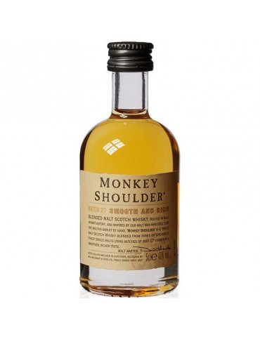 MONKEY SHOULDER Whisky, Blended Malt, Scotia, 0.05L, 40% ABV