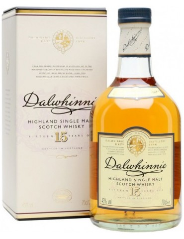 DALWHINNIE 15YO, Single Malt, Scotia, 0.7L, 43% ABV