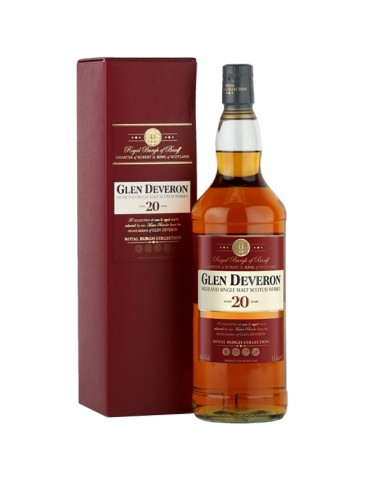 GLEN DEVERON 20YO, Single Malt, Scotia, 1L, 40% ABV