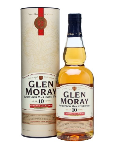 GLEN MORAY 10YO Chardonnay, Single Malt, Scotia, 0.7L, 40% ABV
