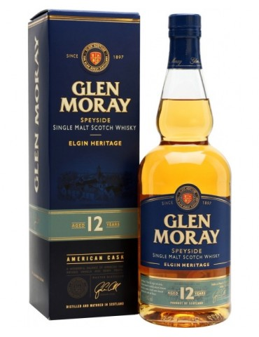 GLEN MORAY 12YO, Single Malt, Scotia, 0.7L, 40% ABV