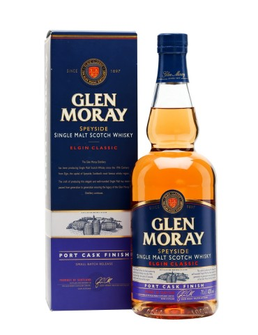 GLEN MORAY Port Cask Finish, Single Malt, Scotia, 0.7L, 40% ABV