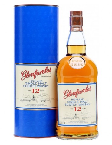 GLENFARCLAS 12YO, Single Malt, Scotia, 1L, 43% ABV