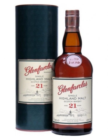 GLENFARCLAS 21YO, Single Malt, Scotia, 0.7L, 43% ABV