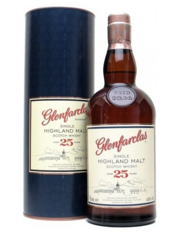 GLENFARCLAS 25YO, Single Malt, Scotia, 0.7L, 43% ABV