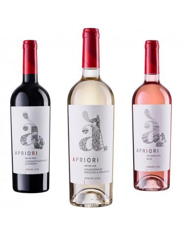Pachet Trio Mix Apriori Cabernet, Chardonnay si Merlot