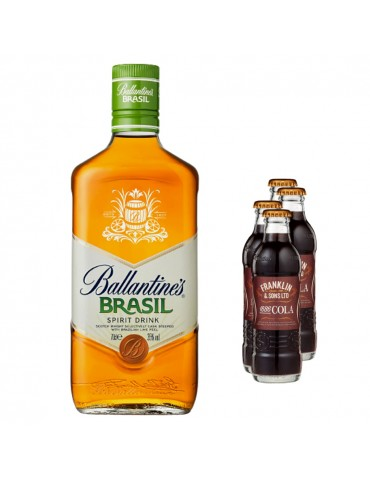 Pachet Whisky Ballantine's 0.7L si 4x Cola FRANKLIN 1886 200ML