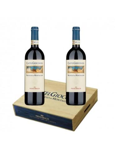 Pachet Vin Castel Giocondo Brunello Di Montalcino DOCG, Italia, Rosu, Sec, 2 Sticle, Cutie Lemn