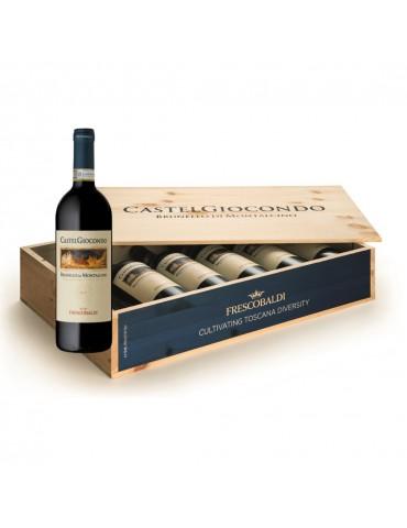 Pachet Vin Castel Giocondo Brunello Di Montalcino DOCG, Italia, Rosu, Sec, 6 Sticle, Cutie Lemn