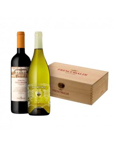 Pachet Vin FRESCOBALDI Castello Pomino Doc si FRESCOBALDI Tenuta Castiglioni Toscana, Cutie Lemn