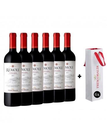 Pachet Vin 6 Sticle Remole Toscana Frescobaldi si 6 Pungi Originale Frescobaldi