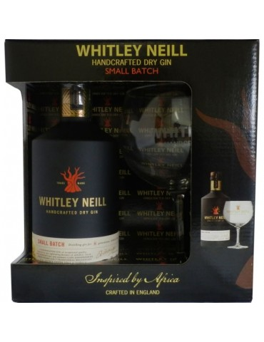 WHITLEY NEILL London Dry Copa Balon Pack, Anglia, 0.7L, 43% ABV