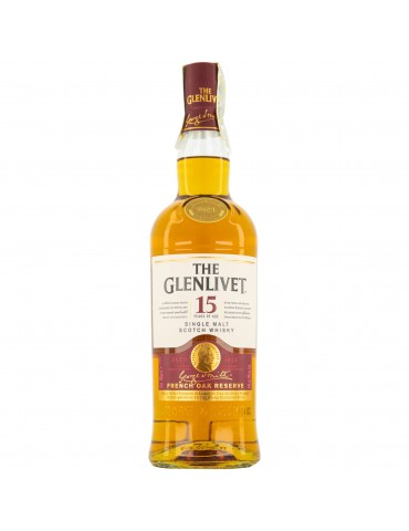 GLENLIVET 15YO, Single Malt, Scotia, 0.7L, 40% ABV