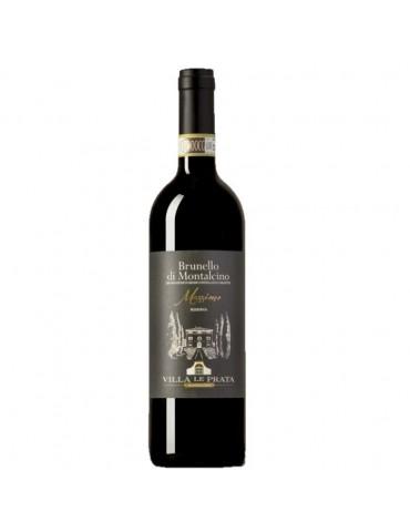 Pachet 3 Sticle VILLA LE PRATA Brunello di Montalcino Massimo Riserva 2015, Italia, Rosu, Sec, 0.75L, 15% ABV, Cutie Lemn