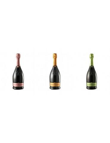 Pachet GOLF - LA MONTINA Franciacorta Brut, Extra Brut, Rose Demisec, Italia, 0.75L, 12% ABV