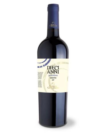 Feudi di Guagnano Diecianni Primitivo Salento, Italia, Rosu, Sec, 0.75L, 13.5% ABV