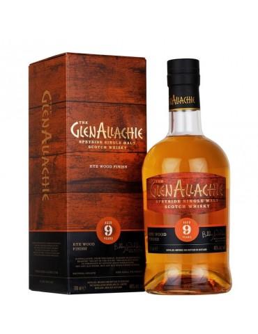 GlenAllachie 9YO Rye Wood, Single Malt, Scotia, 0.7L, 48% ABV