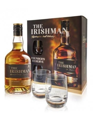 WALSH The Irishman Founder's Reserve, Blended Whisky, Irlanda, 0.7L, 40% ABV, 2 Pahare