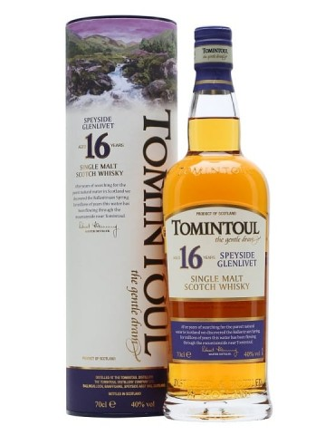 TOMINTOUL 16YO, Single Malt, Scotia, 0.7L, 40% ABV