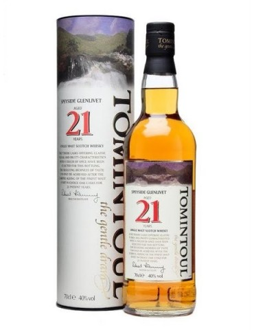 TOMINTOUL 21YO, Single Malt, Scotia, 0.7L, 40% ABV