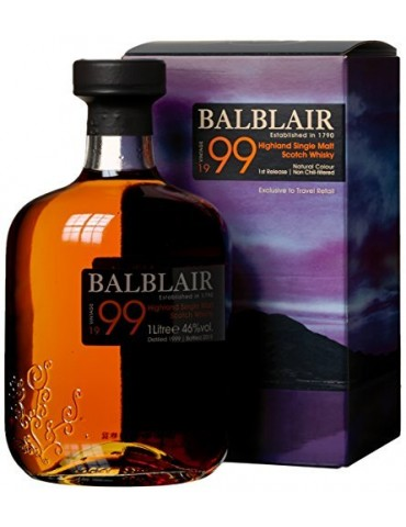 Balblair Vintage 1999, Single Malt, Scotia, 1L, 46% ABV