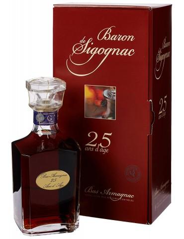 BARON DE SIGOGNAC CARAFE 25 ANI Gift Box, 0.7L, 40% ABV