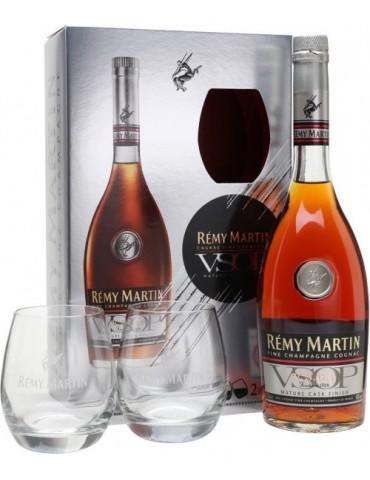 REMY MARTIN Cu Pahare, VSOP, Fine Champagne, 0.7L, 40% ABV