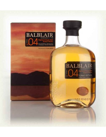 BALBLAIR Vintage 2004, Single Malt, Scotia, 1L, 46% ABV