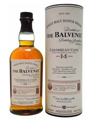BALVENIE 14YO Carribean Cask, Single Malt, Scotia, 0.7L, 43% ABV