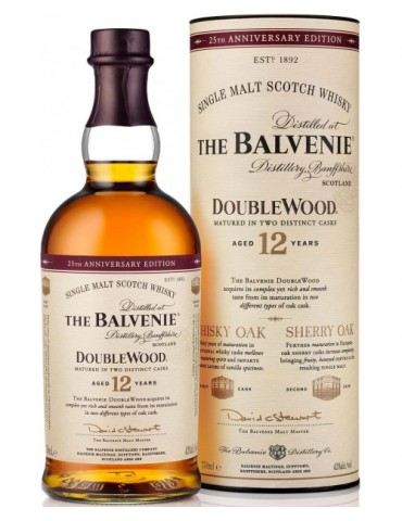 BALVENIE 12YO Doublewood, Single Malt, Scotia, 0.7L, 40% ABV