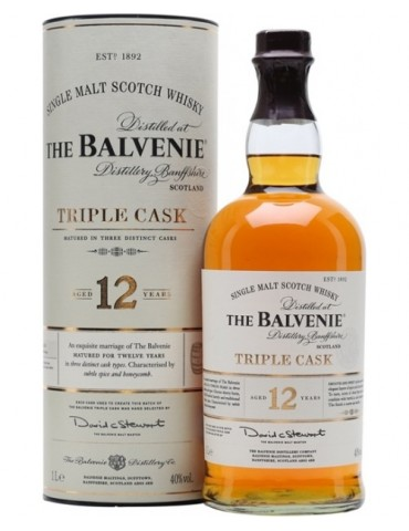 BALVENIE 12YO Triple Cask, Single Malt, 1L, 40% ABV