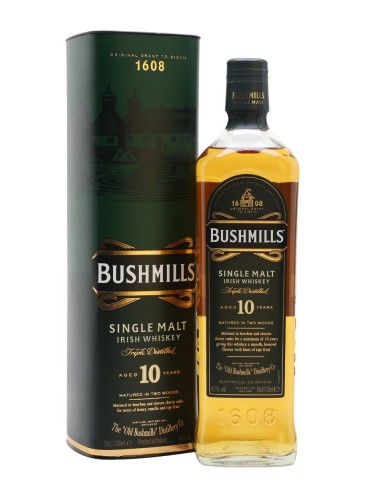 BUSHMILLS 10YO, Single Malt, Irlanda, 0.7L, 40% ABV