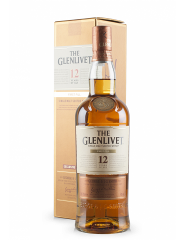GLENLIVET 12YO First Fill, Single Malt, Scotia, 0.7L, 40% ABV