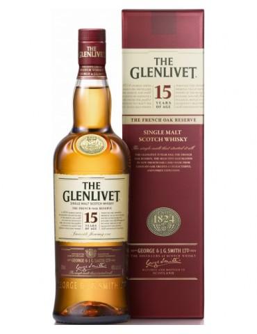 GLENLIVET 15YO Gift Box, Single Malt, Scotia, 0.7L, 40% ABV
