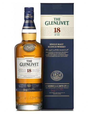GLENLIVET 18YO Gift Box, Single Malt, Scotia, 0.7L, 43% ABV